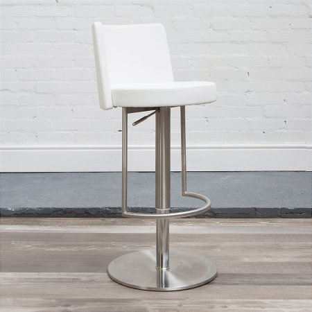 Monza Bar Stool in White