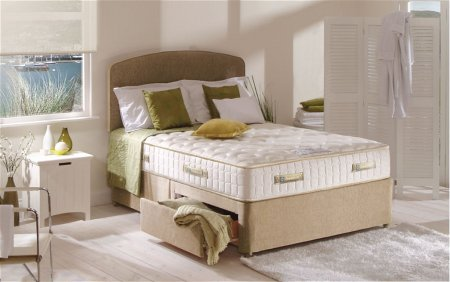 Genoa Silver Pocket 1400 Divan Bed