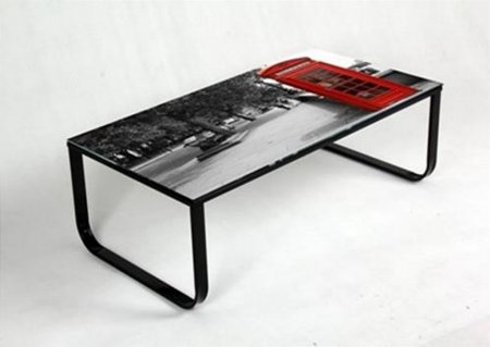 Noda Phone Box Print Coffee Table