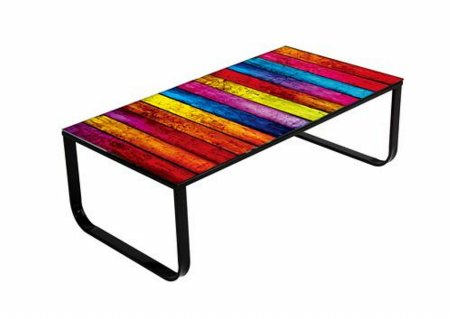 Noda Rainbow Stripe Coffee Table