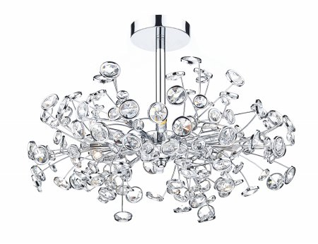 Oberoi 6 Light Semi Flush