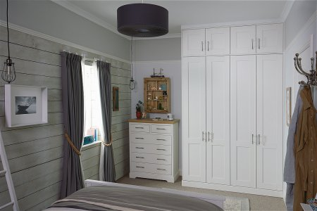 Origin Fitted Bedroom Furniture range in Porcelain