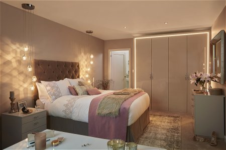 Parity Fitted Bedroom Furniture range in Cashmere Gloss