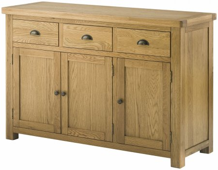 Hartford Grand Oak 3 Door Sideboard