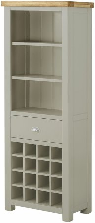 Hartford Grand Painted Bookcase with Wine Rack