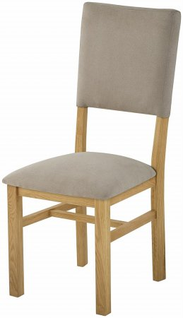 Portland Oak Dining Chair with Fabric Back