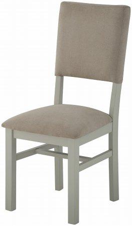 Portland Painted Dining Chair with Fabric Back