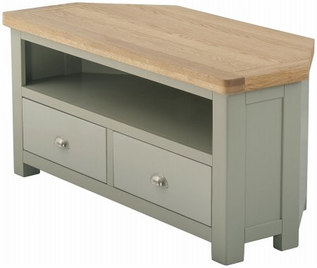 Portland Painted 2 Drawer Corner TV Unit