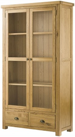 Hartford Grand Oak 2 Door Glazed Display Cabinet