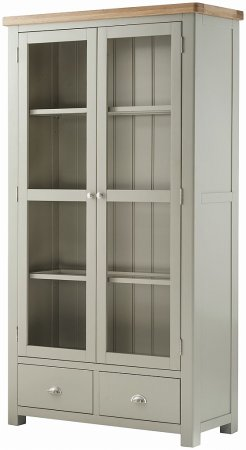 Hartford Grand Painted 2 Door Glazed Display Cabinet