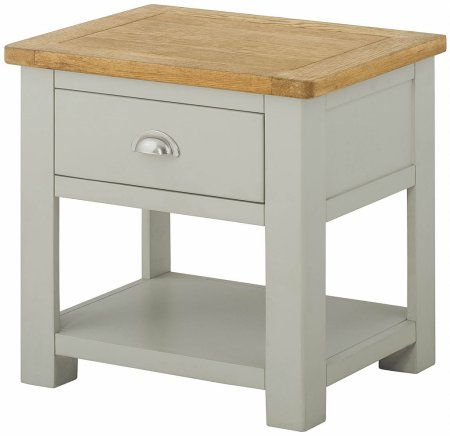 Portland Painted Lamp Table with Drawer