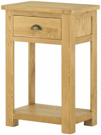 Portland Oak 1 Drawer Small Console Table