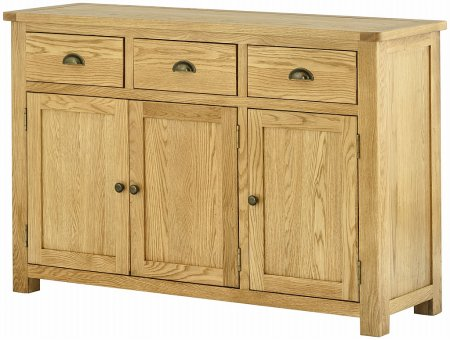 Hartford Oak 3 Door Sideboard