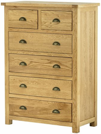 Portland Oak 4+2 Chest of Drawers