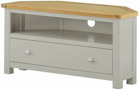 Hartford Painted Corner TV Unit with Drawer
