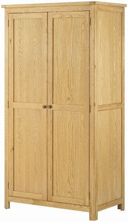 Hartford Oak 2 Door Wardrobe