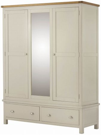 Hartford Painted Triple Wardrobe