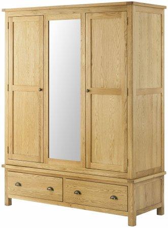 Hartford Oak Triple Wardrobe
