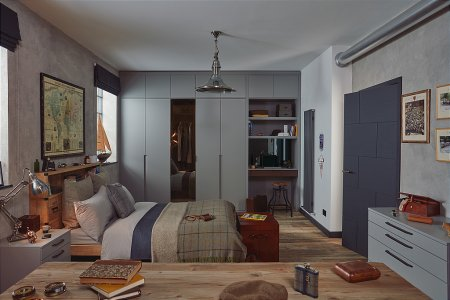 Sculpt Fitted Bedroom Furniture range in Anthracite