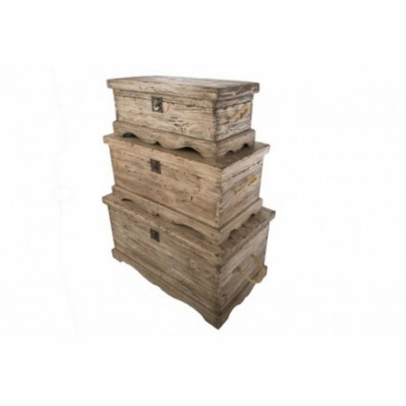 Vintage 3 Chest Set in Weathered Pine
