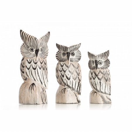 Accessories Set of 3 Small Owls