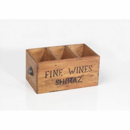 Vintage 3 Bottle Wine Box