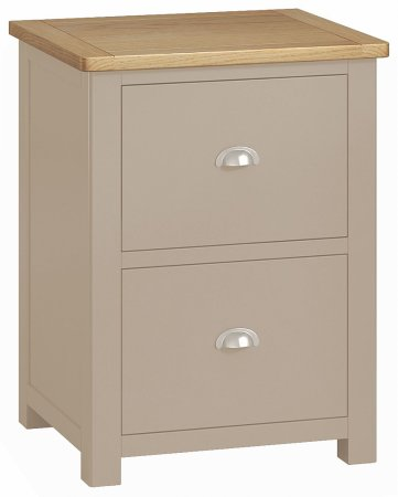Portland Painted 2 Drawer Filing Cabinet