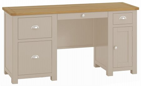 Portland Painted Twin Pedestal Desk