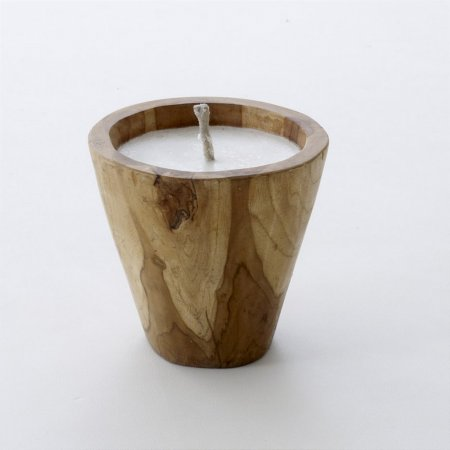 Tree Root Teak Bowl Candle