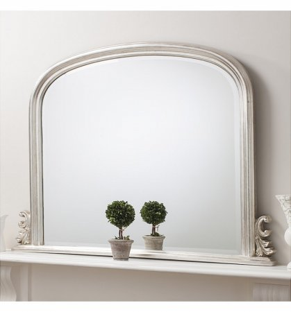 Mirror Thornby Silver Over Mantel
