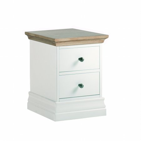 Annecy Oak Narrow Bedside Table