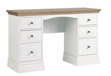 Annecy Oak Double Pedestal Dressing Table