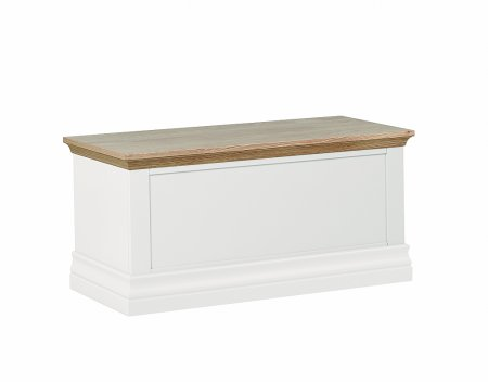 Annecy Oak Blanket Box