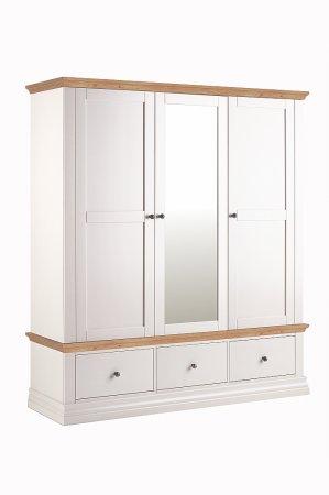 Annecy Oak Triple Wardrobe