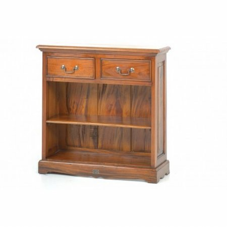 Victorian 2 Drawer Open Bookcase