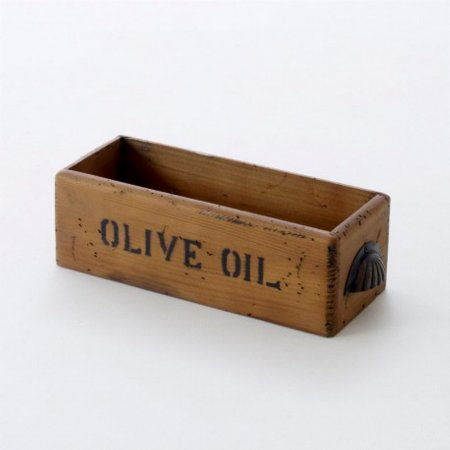Vintage Olive Oil Storage Box