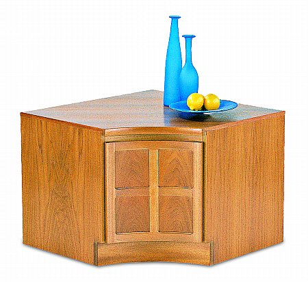 Nathan - Teak Collection Classic Internal Corner Storage Unit. Click for larger image.