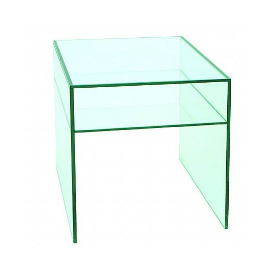 Vale Furnishers - Glass Square Occasional Table . Click for larger image.
