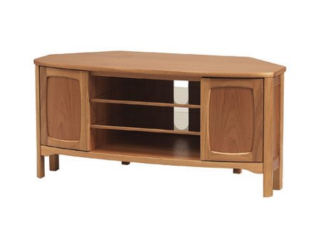 Nathan - Teak Collection Shades Corner TV Unit. Click for larger image.