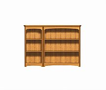 2898/Nathan-Editions-Mid-Triple-Bookcase