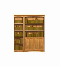 2904/Nathan-Editions-Tall-Triple-Combination-Bookcase