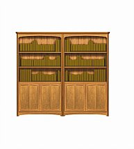 2905/Nathan-Editions-Tall-Quadruple-Bookcase-with-Doors