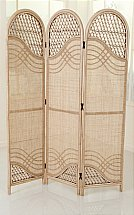 Daro - Rattan Three Panel Screen