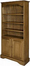 Old Charm - Cotswold Bookcase with Doors