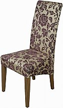 Old Charm - Cotswold Upholstered Dining Chair in Plum