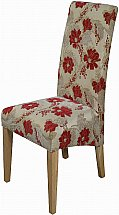 Old Charm - Cotswold Upholstered Dining Chair - Red Floral