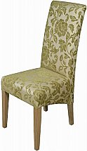 Old Charm - Cotswold Upholstered Dining Chair - Sage