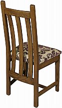 Old Charm - Cotswold Slatted Back Chair - Plum