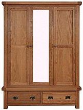 Barrow Clark - Oakleaf 3 Door Wardrobe with mirror