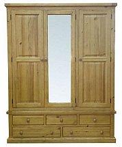 Barrow Clark - Gloucester Large Mirrored 3 Door Robe